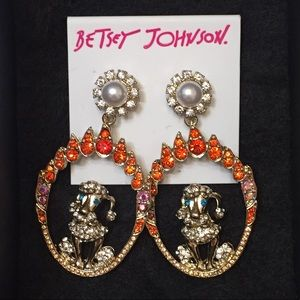 Betsey Johnson French Poodle Earrings